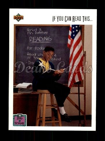 1991 Upper Deck #22   -  Michael Jordan Stay In School