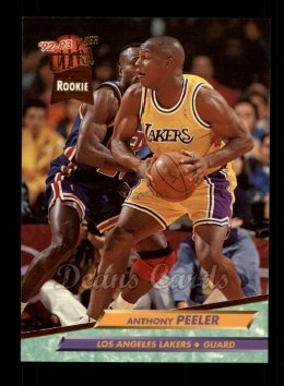 1992 Fleer Ultra #289  Anthony Peeler