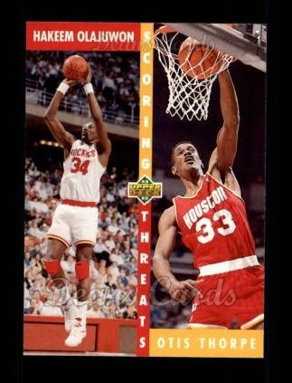 1992 Upper Deck #501   -  Hakeem Olajuwon / Otis Thorpe Scoring Threats
