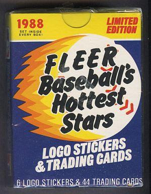1988 Fleer 1988 Fleer Baseball Hottest Stars Factory Sealed