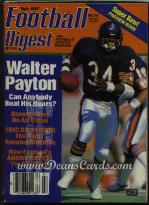1987 Football Digest    February  - Walter Payton