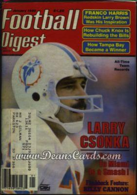 1980 Football Digest    January  - Larry Csonka