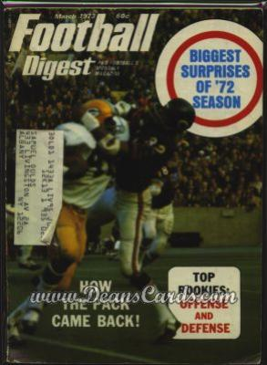 1973 Football Digest    March  - Top Rookies