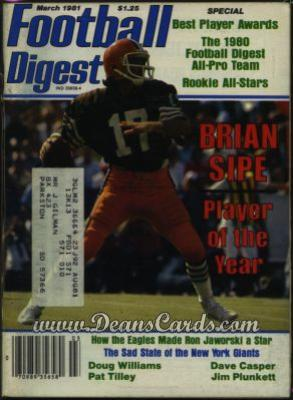 1981 Football Digest    March  - Brian Sipe