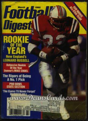 1992 Football Digest    March  - Leonard Russell