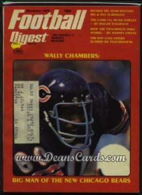 1975 Football Digest    November  - Wally Chambers
