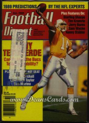 1989 Football Digest    October  - Vinny Testaverde
