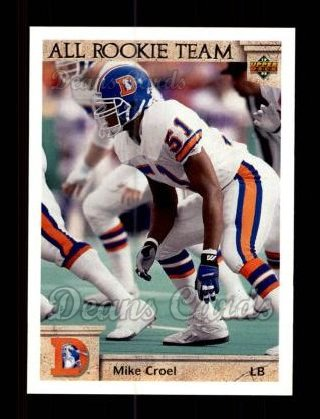 1992 Upper Deck #49   -  Mike Croel All Rookie Team
