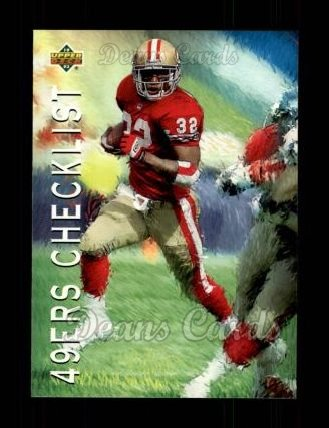 1993 Upper Deck #77   -  Ricky Watters San Francisco 49ers Team