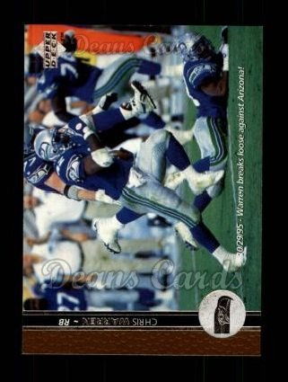 1996 Upper Deck #208  Chris Warren