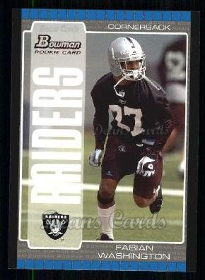 2005 Bowman #135  Fabian Washington