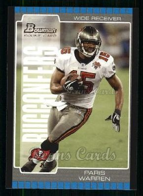 2005 Bowman #210  Paris Warren