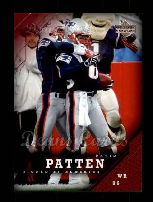 2005 Upper Deck #112  David Patten