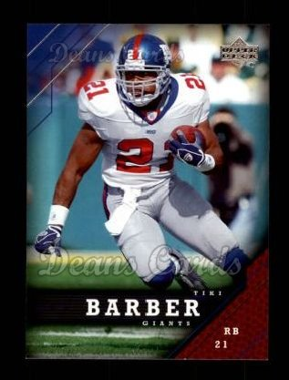2005 Upper Deck #122  Tiki Barber