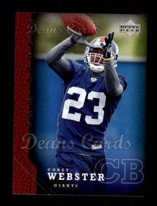 2005 Upper Deck #257  Corey Webster