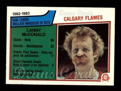 1983 O-Pee-Chee #74   -  Lanny McDonald Flames Leaders