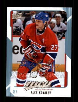 2008 Upper Deck MVP #152  Alex Kovalev