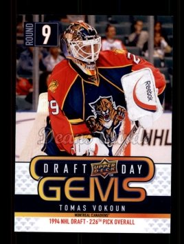 2009 Upper Deck Draft Day Gems #20 GEM Tomas Vokoun