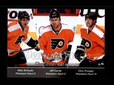 2010 Upper Deck #200   -  Mike Richards / Jeff Carter / Chris Pronger Checklist 101-200