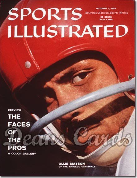 1957 Sports Illustrated - With Label   October 7  -  Ollie Matson (Chicago Cardinals)