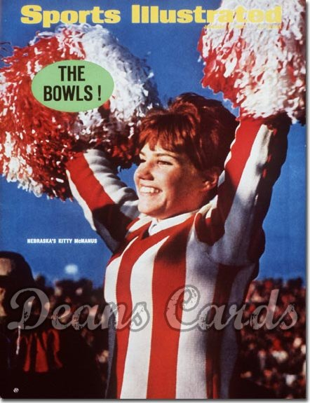 1967 Sports Illustrated - With Label   January 2  -  Kitty McManus Nebraska Cheerleader (Cornhuskers)