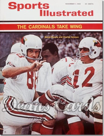 1965 Sports Illustrated - No Label   November 1  -  Charley Johnson & Sonny Randle St. Louis Cardinals