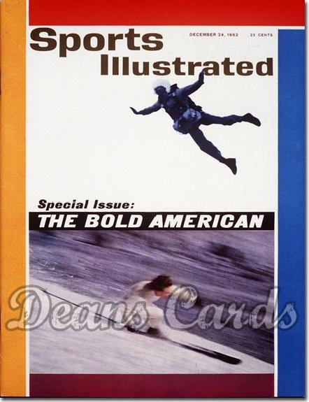 1962 Sports Illustrated - No Label   December 24  -  George McCulloch (Skydiving) Cathy Nagel (Skiing)