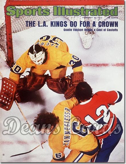 1975 Sports Illustrated - With Label   February 10  -  Rogie Vachon (Los Angeles Kings)