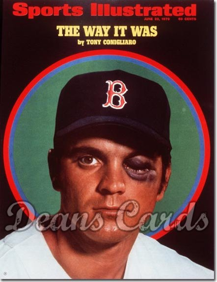 1970 Sports Illustrated - With Label   June 22  -  Tony Conigliaro (Boston Red Sox)