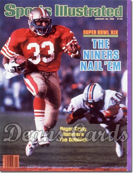 1985 Sports Illustrated - With Label   January 28  -  Roger Craig (San Francisco 49ers) (Super Bowl XIX)