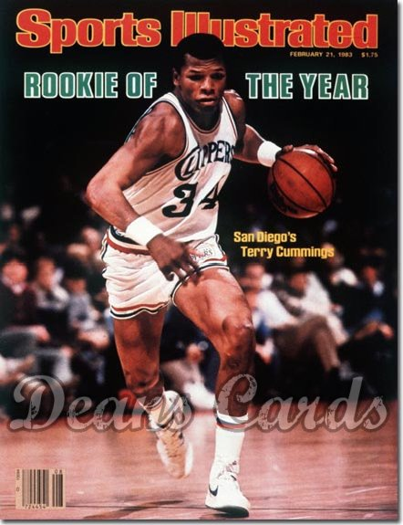 1983 Sports Illustrated - With Label   February 21  -  Terry Cummings (San Diego Clippers)