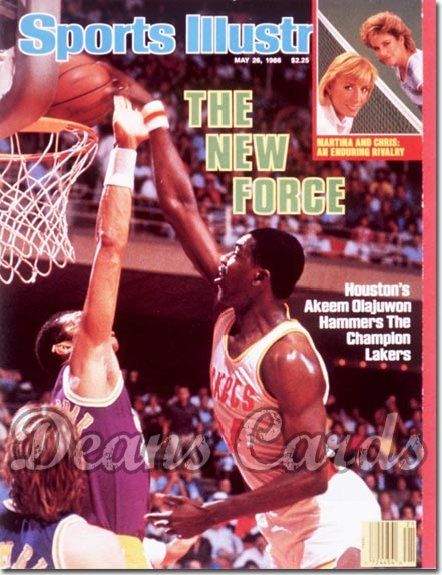 1986 Sports Illustrated - With Label   May 26  -  Hakeem Olajuwon (Houston Rockets)
