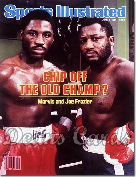 1981 Sports Illustrated - With Label   June 1  -  Joe Frazier/Marvis Frazier