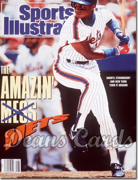 1990 Sports Illustrated - With Label   July 9  -  Darryl Strawberry (NY Mets)