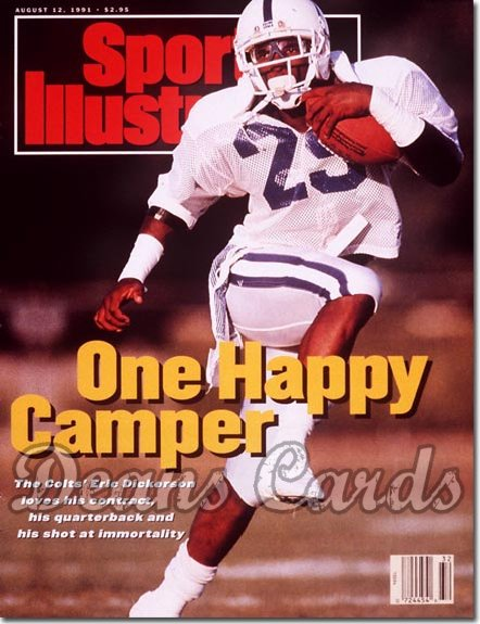 1991 Sports Illustrated - With Label   August 12  -  Eric Dickerson (Indianapolis Colts)