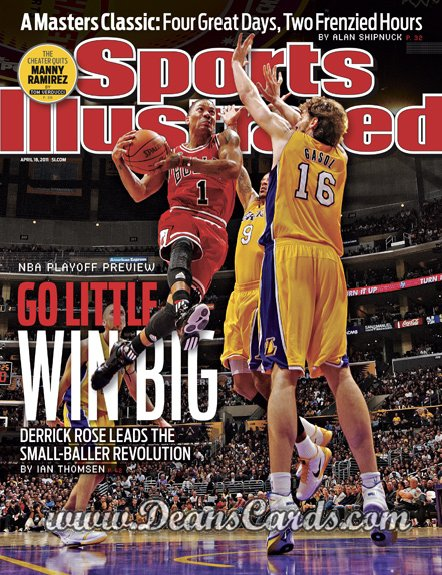 2011 Sports Illustrated - With Label   April 18  -  Derrick Rose / Paul Gasol