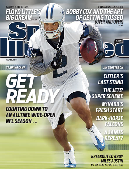 2010 Sports Illustrated - With Label   July 26  -  Miles Austin
