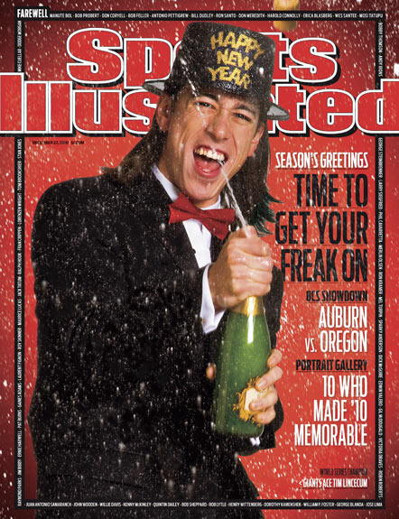 2010 Sports Illustrated - With Label   December 27  -  Tim Lincecum / New Years Edition / Giants