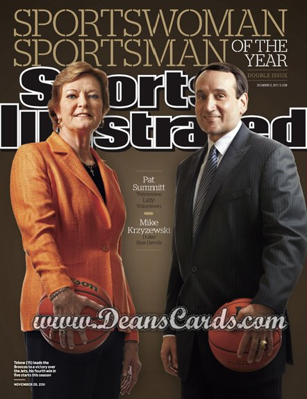2011 Sports Illustrated - With Label   December 12  -  Pat Summitt / Mike Krzyzewski / Sportsman