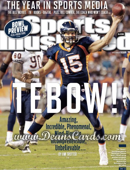2011 Sports Illustrated - With Label   December 19  -  Tim Tebow / Tebow! / Denver Broncos