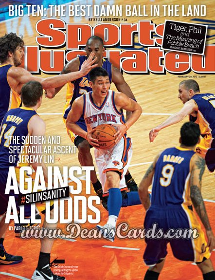 2012 Sports Illustrated - With Label   February 20  -  Jeremy Lin / New York / Against All Odds