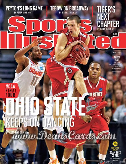 2012 Sports Illustrated - With Label   April 2  -  Aaron Craft / Ohio State Buckeyes / Keeps On Dancing