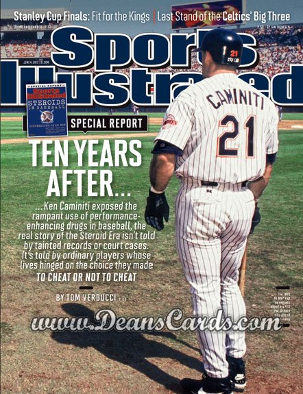 2012 Sports Illustrated - With Label   June 4  -  Ken Caminiti / San Diego Padres / Ten Years After