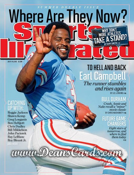 2012 Sports Illustrated - With Label   July 6  -  Earl Campbell / Houston Oilers / Where are they Know?