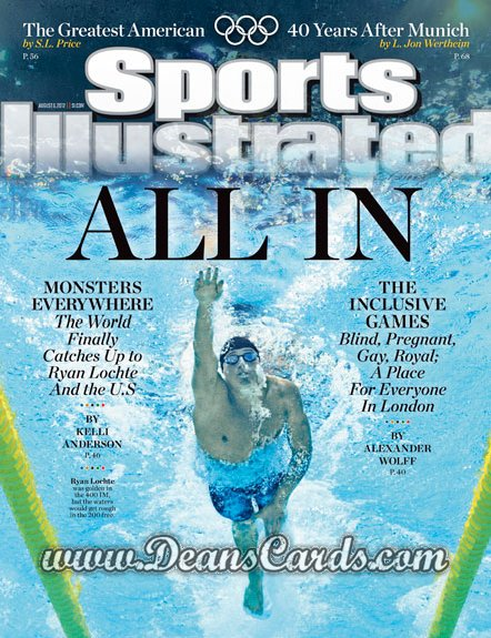 2012 Sports Illustrated - With Label   August 6  -  Ryan Lochte / All In /  London Olympics