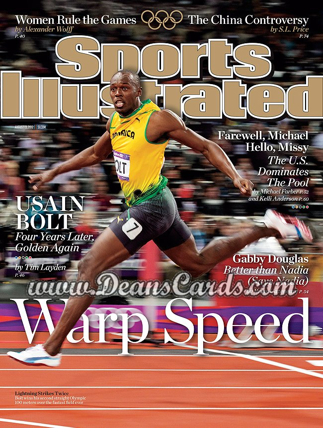 2012 Sports Illustrated - With Label   August 13  -  Usain Bolt / Warp Speed /  London Olympics