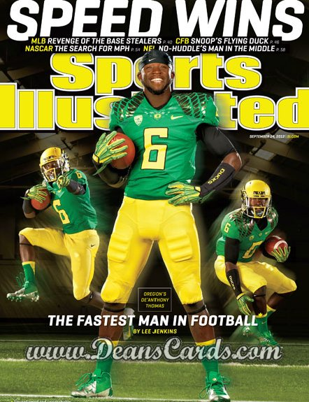 2012 Sports Illustrated - With Label   September 24  -  De'Anthony Thomas / The Fastest Man in Football / Oregon Ducks