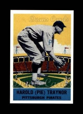 1933 Delong Gum Reprint #12  Pie Traynor