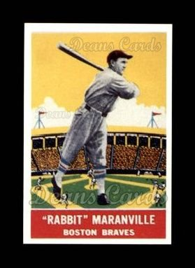 1933 Delong Gum Reprint #13  Rabbit Maranville