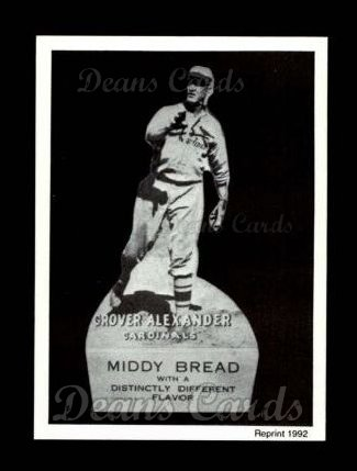 1927 Middy Bread Reprint #1  Grover Alexander